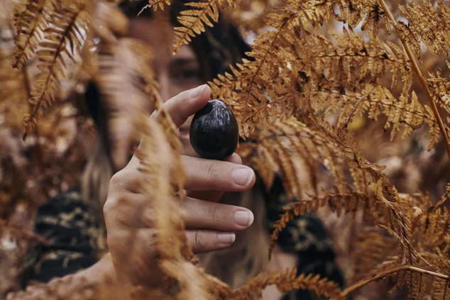 huevo yoni de Obsidiana Negra